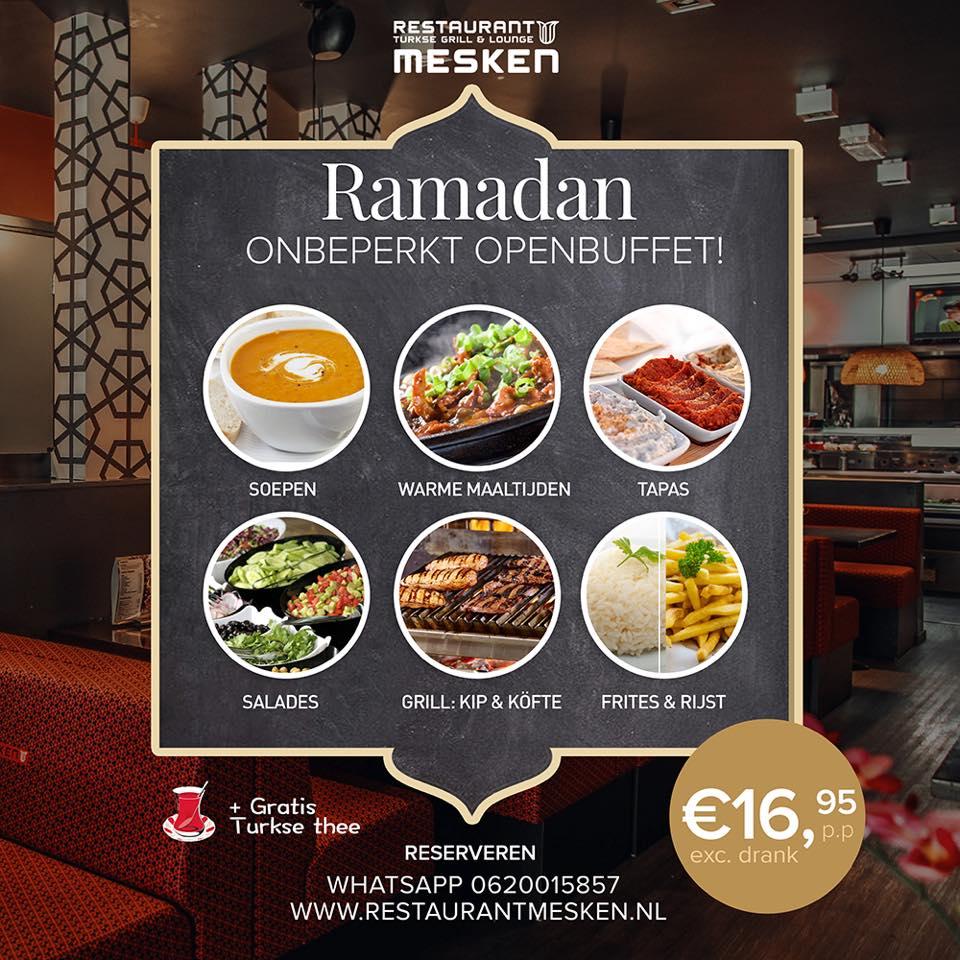 ramadan iftar in amsterdam restaurant mesken