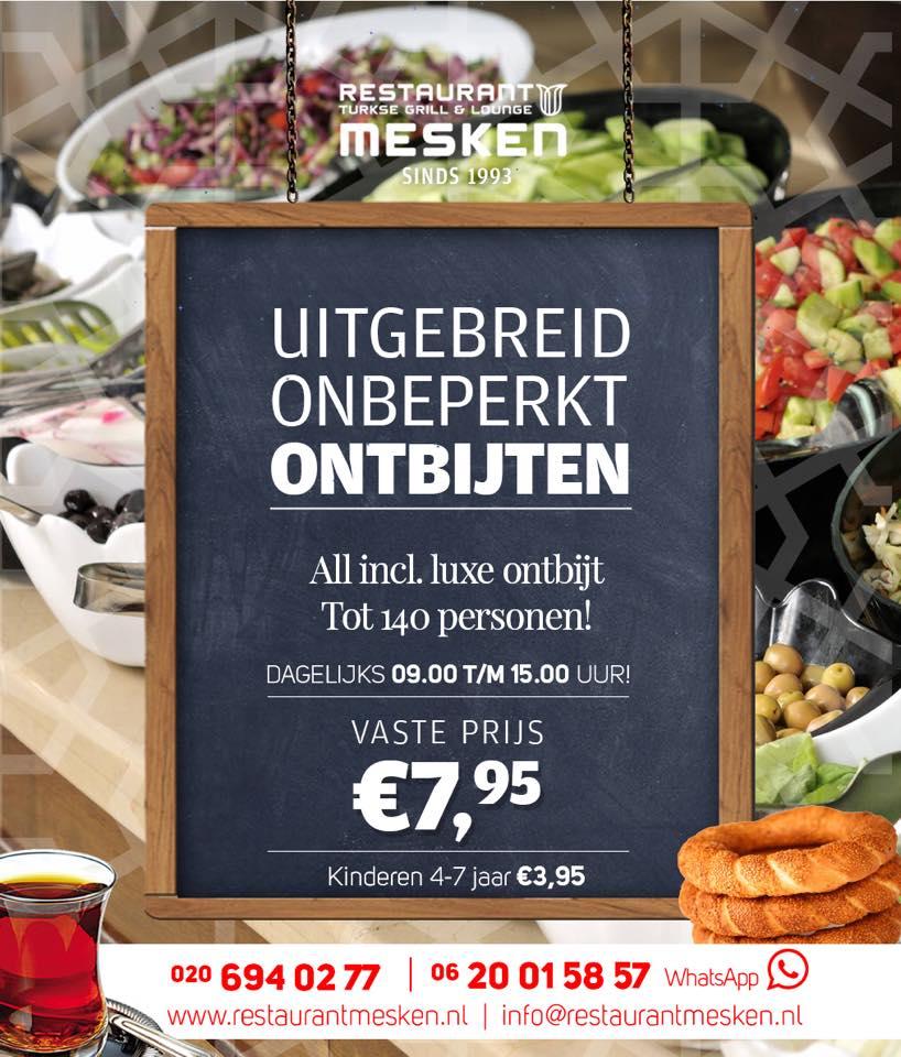 Onbeperkt ontbijten restaurant mesken for Turkse kapper amsterdam oost